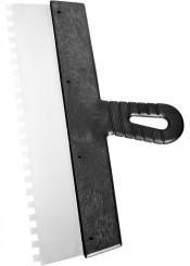 Шпатель зубчатый 150мм зуб 4х4мм СИБРТЕХ нержавеющая сталь, пластмассовая рукоятка