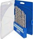 Набор сверл по металлу ПРАКТИКА Профи 19 шт. 1-10 мм, шаг 0,5 мм, ПРО кассета